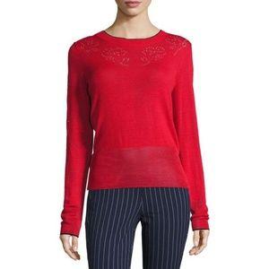 Rag and Bone Adriana Pointelle Sweater Wool
